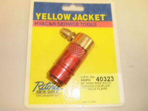 "R-134A COUPLER TO 1/4 FLARE Yellow Jacket Automotive R-134a A/C Coupler with 1/4"" flare HI-Side"